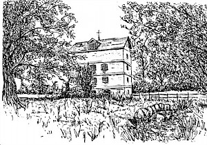 Line drawing of Lower Mill