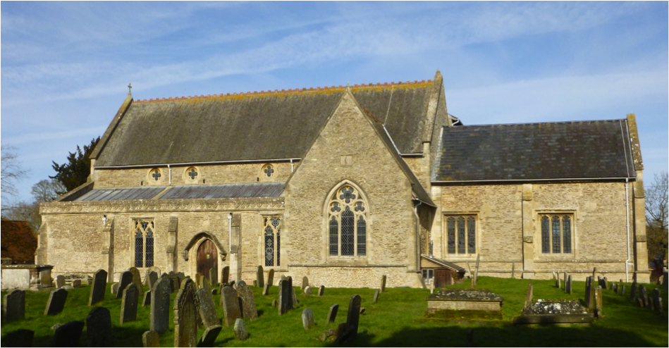 The parish church of St James the Great seen from the south.